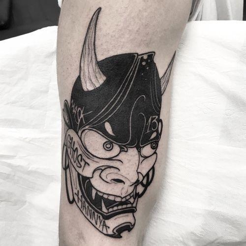 @oscarhove 小子火流 at @ondotattoo   Done with @hardcraftcompany @cokofernandez68 And love!  ............... ............... ............... #blacktattoo #tattoobarcelona  #barcelonatattoo  #tattooart  #tatuaje  #btattoing #darkartists #blxckink #blacktattooart #btattooing #onlyblackart #blackwork  #bw #tttpublishing #thebestspaintattooartist #occultarcana #blackworkerssubmission #tbsta #japanart #japanesecollective #japanesetattoo #japaneseink #百鬼夜行 #nohmask #bestirezumi #irezumicollective #bcnttt #hundreddemons #wtt #taot