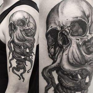 #skull #skulltattoo #octopustattoo #octopus