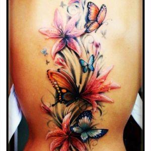 #dreamtattoo #butterfly #flowers