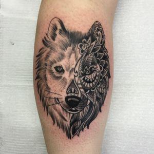 #wolf #wolftattoo #blackandgreytattoo