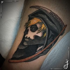 Reaper • #reaper #reapertattoo #ceifador #death #deathtattoo #morte #mortetattoo #foice #skull #skulltattoo #caveira #caveiratattoo #mementomori #shinigami #tattoo #tatuagem #halloween #halloweentattoo