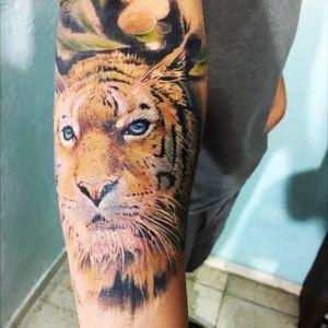 #tigerhead #tigertattoo #blueeyes
