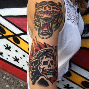 Totem small stack #queenstreettattoo #traditional