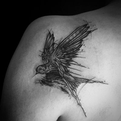 Swallow for Roma #tattoo #tattoos #inkedgirl #ink #inked #tattoooftheday #blackwork #blackworkers #blackworkerssubmission #black #bwt #bird #birdtattoo #swallow #swaĺlowtattoo #sketch #sketchstyle #sketchstyletattoo #poland #warsaw