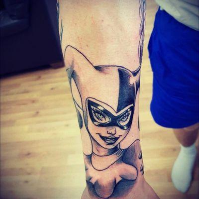 #harleyquinn #dc #dccomics #batman #Joker #sleevetattoo #sleeveinprogress #poisonivy #ivy #harleyquinntattoo