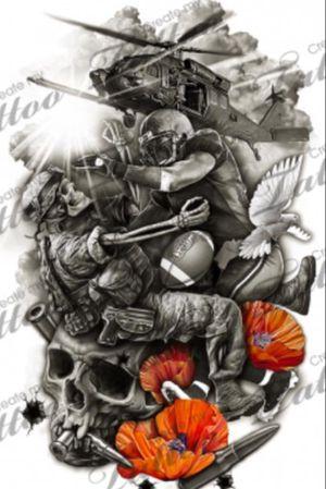 My next tattoo #NFL #war #mixedtattoo #realism