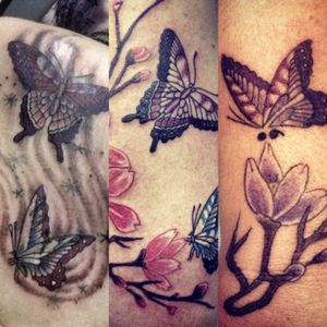 Butterfly sister tattoos#butterflytattoos#sistertattoos#jimmyaztec