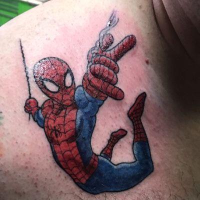 Spiderman by Michael White @ #BicycleTattoo #michaelwhite #comic #spiderman #marvel #marvelcomics