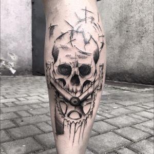 #skulltattoo #biketattoo #sketchtattoo #polandtattoo #blackworktattoo #blackink #onlyblackink