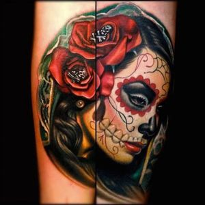 #dayofthedead #megandreamtattoo #meganmasaacre I would love this on the side of my thigh or calf!