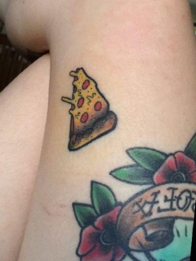 Pizza! 🍕#pizza #pizzatattoo #pizzaslice #food #foodtattoo #colorful #ColorfulTattoos