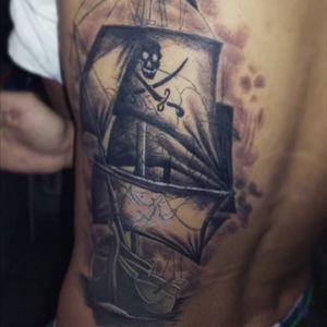 #boat #pirata #pirate #tattoart