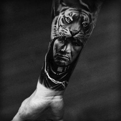 #indian #indianchief #tiger #realism #portrait