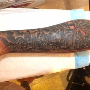 Batman tattoo by Ulia's ink #batman #batmantattoo #gotham #gothamcity #batmansignal #thedarkknight