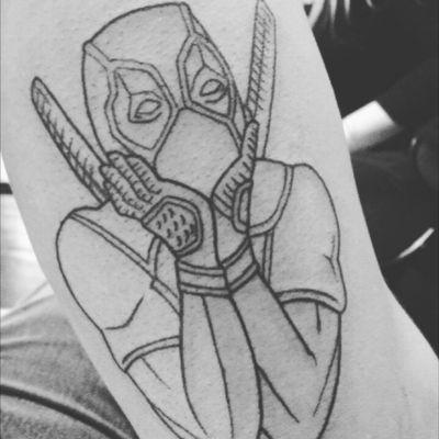 Deadpool (lines only, shading next session) #Deadpool #linework #marvel