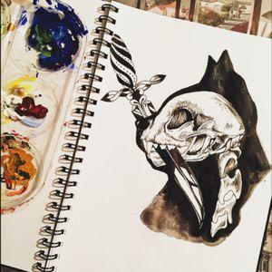 Dead kitty #tattoo_art_worldwide