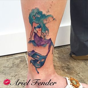 #watercolortattoo #watercolorartist #watercolormermaid