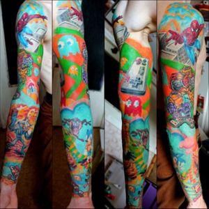 Not my art: #sleeve #Gaming #brightcolours #cartoon