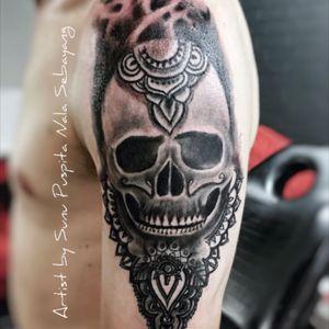#tattoo #customdesign #blackandgrey