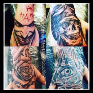 Joker - rose -skull - eye