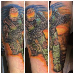 Alittle Halo tattoo... @ak.artinmotiontattoo #halo #tattoo #gamertattoo #wasillaalaska #Alaskatattoo
