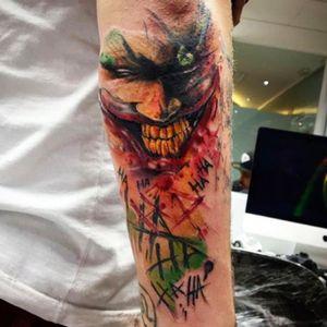 #Joker #jokertattoo #hahaha #watercolor