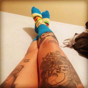 My leg and hamburger socks