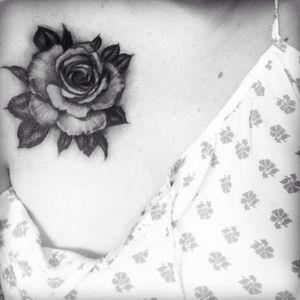 #freshink #chest #rose #love
