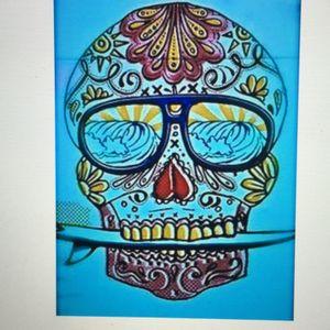 Day of the Dead Surf Skull! #dreamtattoo