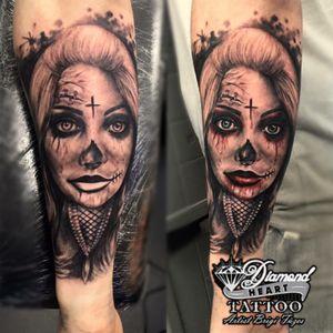 #brigifuzes #diamondhearttattoo #tats #tattoo #tattoos #ink #inked #inkedpeople #bexleyheathtatts #instaink #instdaily #instalike #skinart #bishoprotary #bexleyheath #losmuertos #dayofthedead