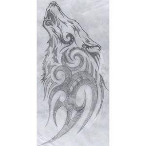 Tribal wolf tattoo design #wolf #tribal