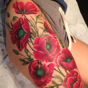 Artist Unknown #beautiful #flowers #redflowers