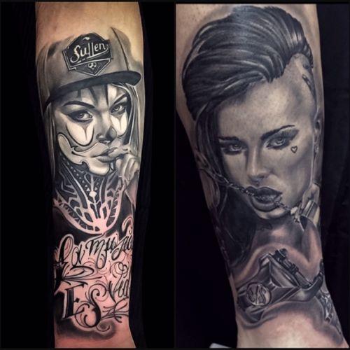 @teyasalat @christymack #bishoprotary #fusiontattooink #fusion_tattoo_ink #fusionink #bng #bnginksociety #chicanostyle #chingona