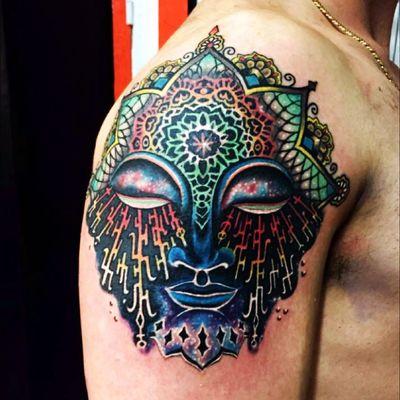 #ralfmanntattoo #manntattoo #pescara #psychedelic #tattooing #psychedelictattoo #buddha #mystic #codex #trippy #tats #Tattoodo #tattooart #tattoolife #colortattoo #graphictattoo