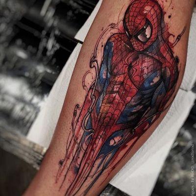 #Spiderman #Hombrearaña #aquarella #Tattos #Marvel