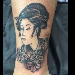 Geisha and sakura