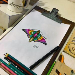Insta @ludvanluiz #drawtattoo #ludink #tattoo #mariposatattoo#amazingink