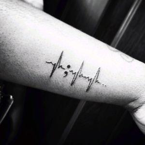 #miamitattoos #semicolon #heartbeat #survivor
