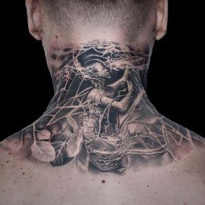 For more of my tattoos, check out www.instagram.com/bacanubogdan or www.Facebook.com/bacanu.bogdan.7 #BacanuBogdan #tattoooftheday #tattoo #blackandgrey #realism #realistic #tattooartist #sleeve #necktattoo