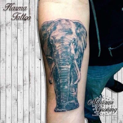 Realistic elephant tattoo #tattoo #tatuaje #color #mexicocity #marianagroning #tatuadora #karmatattoo #awesome #colortattoo #tatuajes #claveria #ciudaddemexico #cdmx #tattooartist #tattooist #elephant #elefante #realismo #realistictattoo