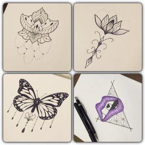 Desenhos disponiveis! Tatuador Rafael Zanganelli #flordelotus #borboleta #buttefly #boca #ornamental #OrnamentalBlackworktattoos #ornament