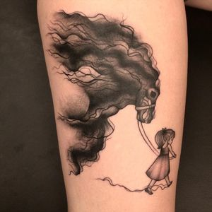 Sweet #lilgirl #girl #horse