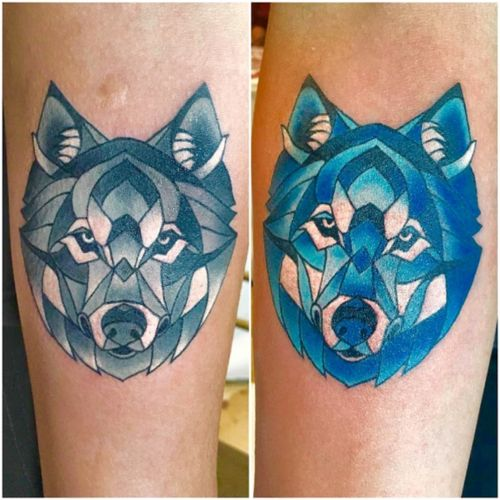 Mosaic styled #wolfheads! Remember to upload your dream tatto and tag it #megandreamtattoo