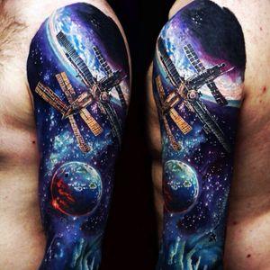 #sashae #galaxy #space #moon #satalight #moon #planet #sleeve