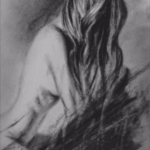Charcoal and graphite.