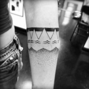 Nice! #armband #forearm #linework #dotwork #native #tribal
