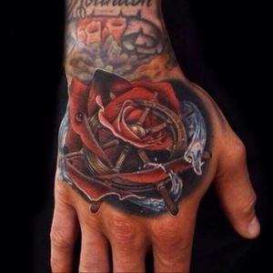 Rose/sailor hand tattoo #rose #sea