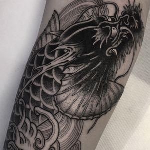 Ryukoi #btattooing #blackboldsociety #blacktoptattooing #BLXCKINK #oldlines #tattoosandflash #darkartists #tattoosandflash #topclasstattooing #darkartists #thebesttattooartist #japanesetattoos #irezumitattoo #horimono #tatuaggiogiapponese #orientaltattoos #irezumcolletctive #waterlawtattoobutter #tattoodo #tattoodoambassador