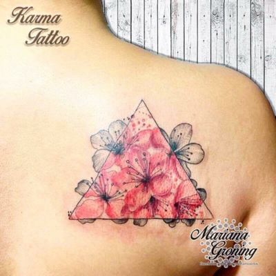 Color and blackwork cherry blossom tattoo #tattoo #tatuaje #color #mexicocity #marianagroning #tatuadora #karmatattoo #awesome #colortattoo #tatuajes #claveria #ciudaddemexico #cdmx #tattooartist #tattooist #cherryblossom #flordecerezo