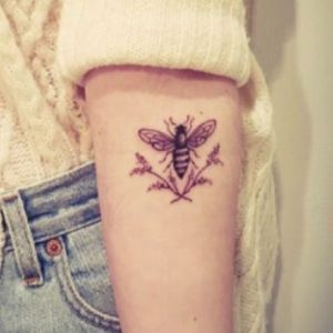 #meagandreamtattoo #meagandreamtattoo #meagandreamtattoo  this tattoo reminds me of my wedding day, we used real lavender evewherw and it brough in the bees. I would love to get this as a tribute.